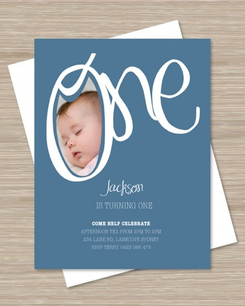 First Birthday Party Invitations, 1st Birthday Invites Boy Girl