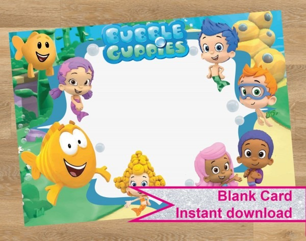 Bubble Guppies Invitation, Bubble Guppies Card, Birthday