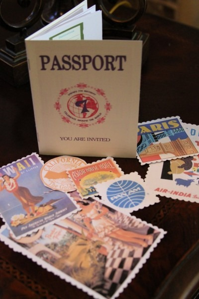 Party Invitation That Looks Like A Passport  Especially Love The