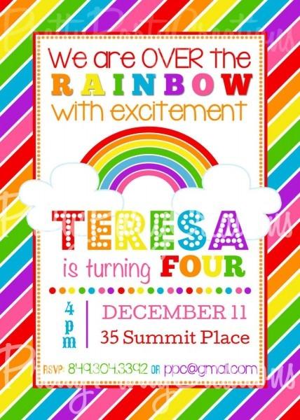 Rainbow Invitation