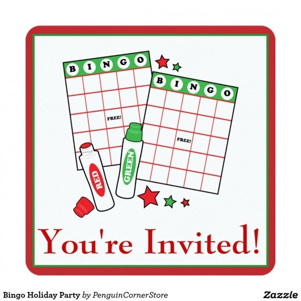 Bingo Holiday Party Invitation In 2018