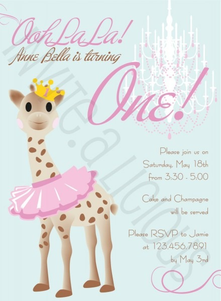 Customize This Sophie The Giraffe French Dainty By Invitealicious