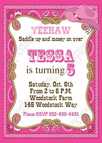 Cowgirl Party Invitations Free Printables Skylanders Birthday Card