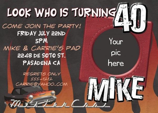 40th Birthday Invitations For Him 40th Birthday Invitations For