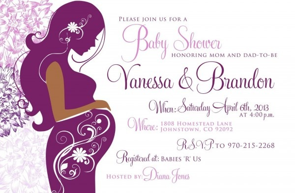 Purple Baby Shower Invitations Background 1 Hd Wallpapers