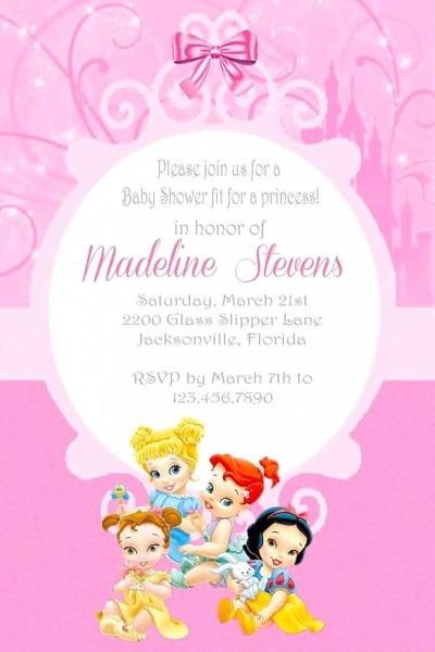 Free Disney Princess Baby Shower Invitations