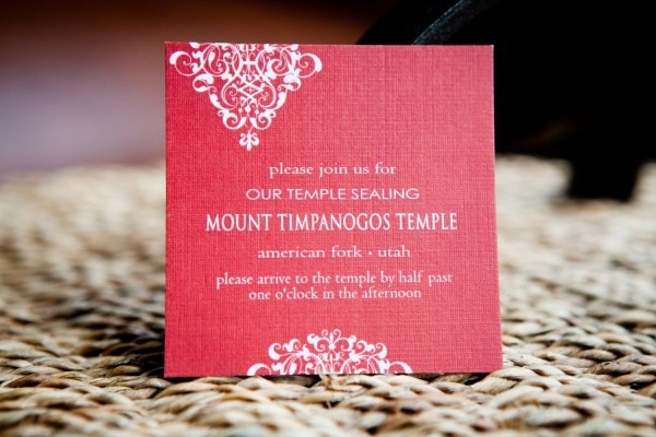 Temple Wedding Invitation Wording
