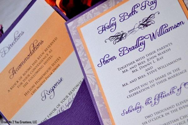 Wedding Purple And Orange