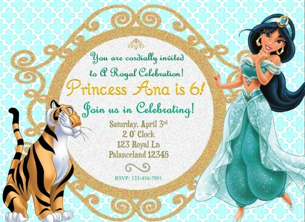 Disney's Jasmine Birthday Invitation