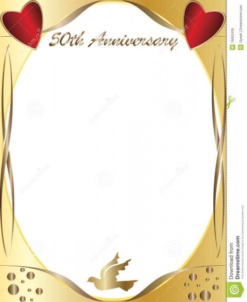 50th Wedding Anniversary Stock Illustration  Illustration Of