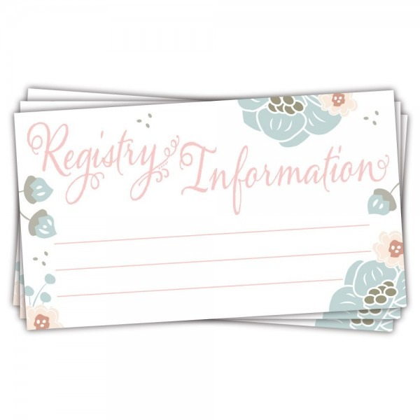 Amazon Com   50 Charming Floral Baby Shower Registry Cards