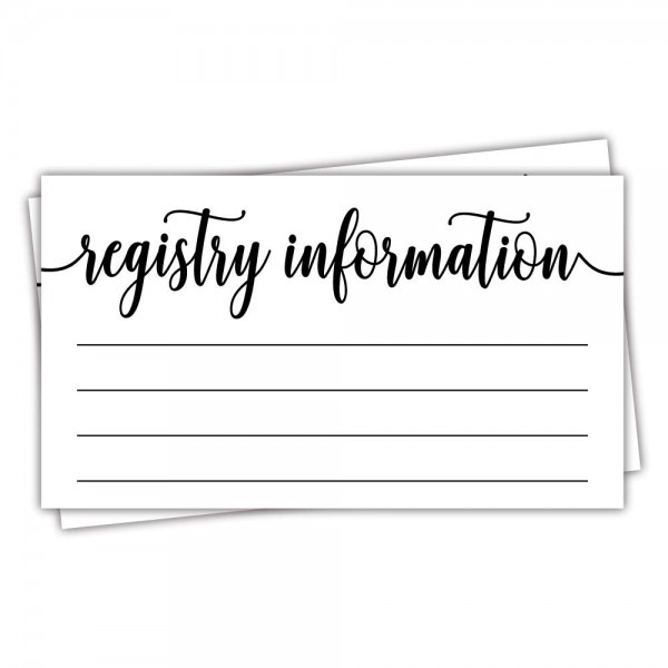 Amazon Com  50 Registry Cards