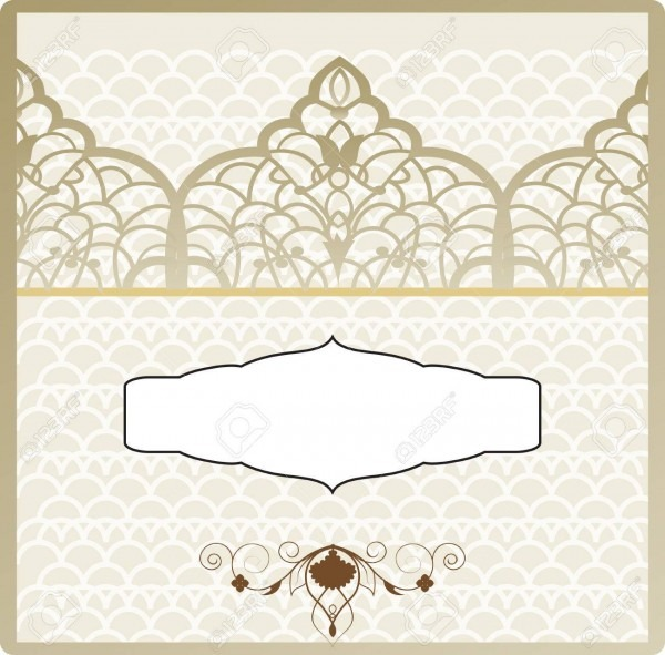 The Vintage Wedding Invitation In Ottoman Style, The Arabic