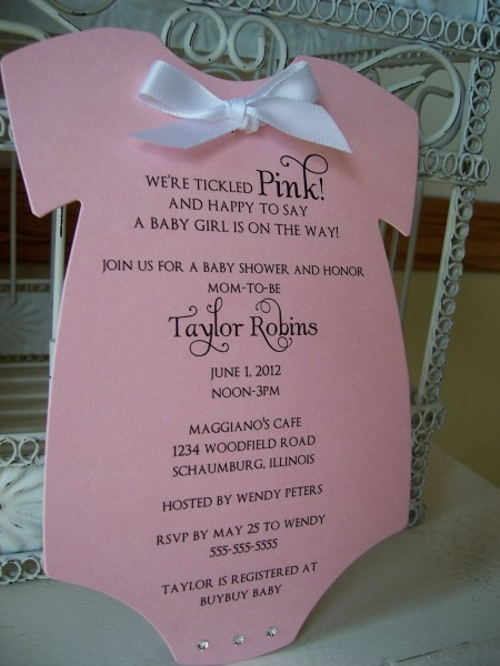 Think Pink Baby Shower Invitation