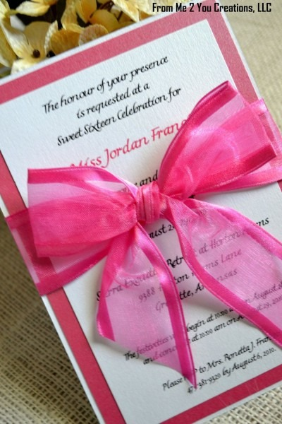 Hot Pink And White Sweet 16 And Quinceanera Birthday Party