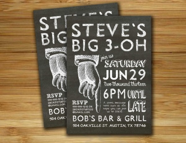 Birthday Party Invitation   Invite