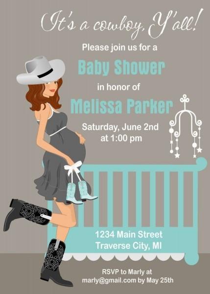 Cowboy Baby Shower Invitations, Western Baby Boy Invite