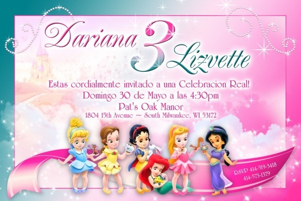 Personalized Girl Baby Princess Invitations
