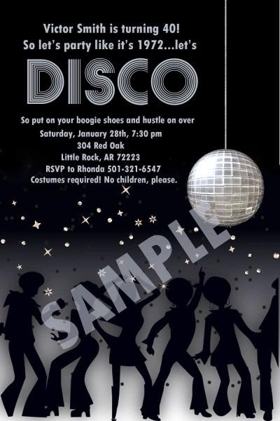 Disco Party Digital Invitation Idea