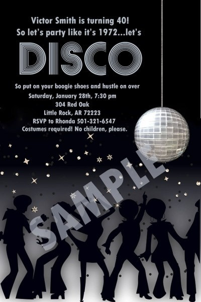 18 Best 70s Images On Best Party Invitation Collection