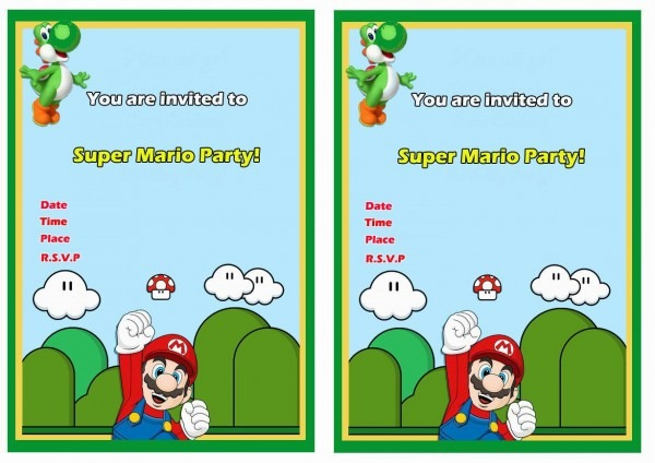 Super Mario Free Printable Birthday Invitations Click Image Below