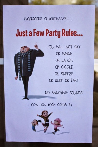 Despicable Me Minion 5th Birthday Party