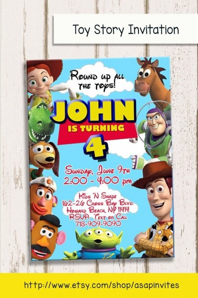 Toy Story Invitation, Toy Story Invite, Toy Story Party, Woody