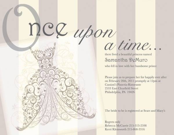 Once Upon A Time   Fairy Tale Vintage Bridal Shower Invita…