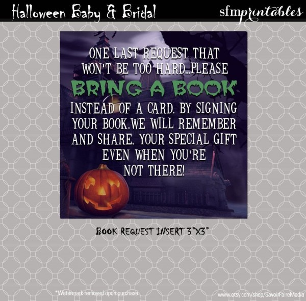 Halloween Gender Reveal Invitations   Couples Baby Shower