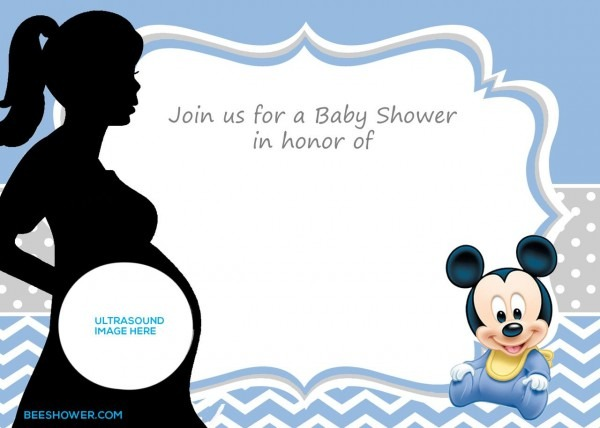 Free Printable Mickey Mouse Baby Shower Invitation Template