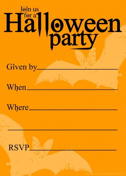 Free Printable Halloween Birthday Invitations Templates