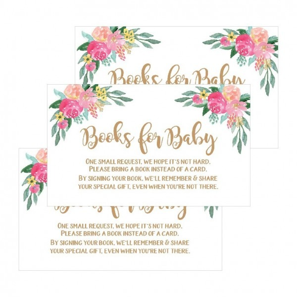 Amazon Com   25 Flower Books For Baby Request Insert Card For Girl