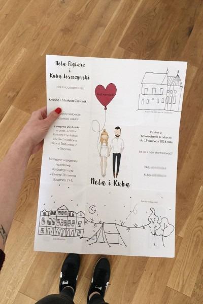 Personalised Wedding Invitations, Portrait Illustration, Quirky