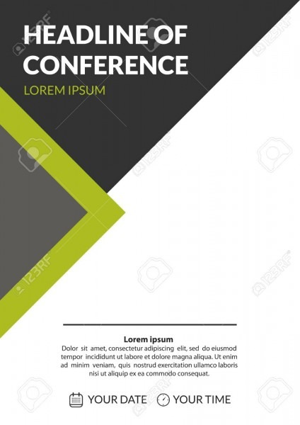 Business Conference Invitation Concept  Colorful Simple Geometric