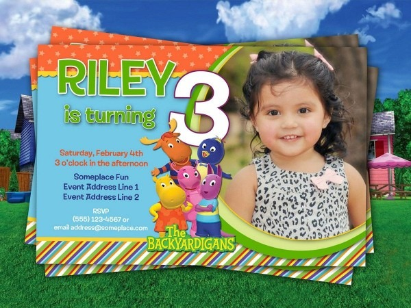 Backyardigans Birthday Invitation Personalized Diy Printable