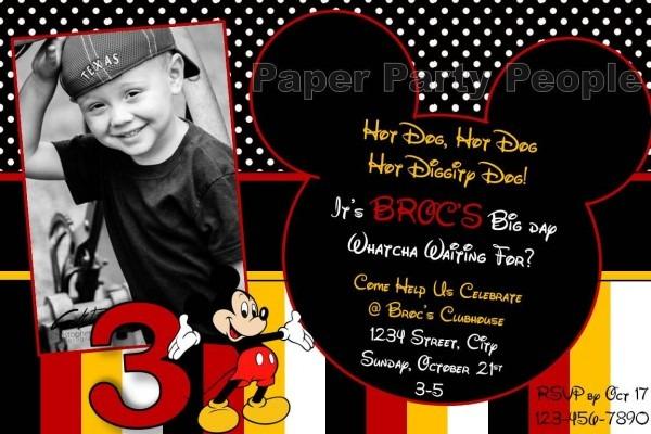 Wedding Invitations Moonpig: Mickey Mouse Birthday Invitation Wording Samples