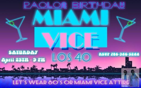 Miami Vice Party Invitation
