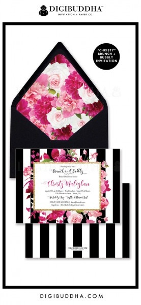 Brunch & Bubbly Bridal Shower Invitation,  Christy  Style With A