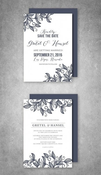 Wedding Invitation Suite Leaves In 2018