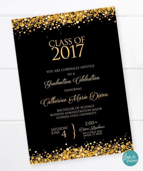 Graduation Invitation, Graduation Celebration, College Graduation