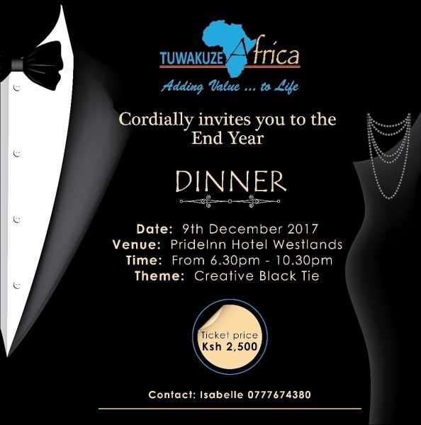 Tuwakuze Africa End Year Gala Dinner 2017 Event At Pride Inn Suite