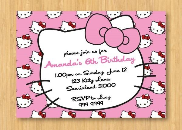 Hello Kitty Birthday Invitations Printable Free – Invitation