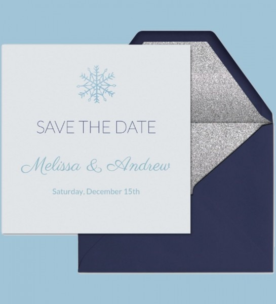 Save The Date To Your Winter Wedding  Use This Premium (ad