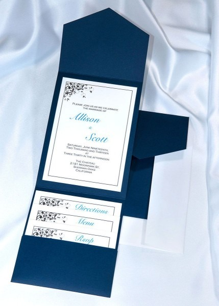 Print Your Own Navy Blue Wedding Invitations With Our Diy Elegance