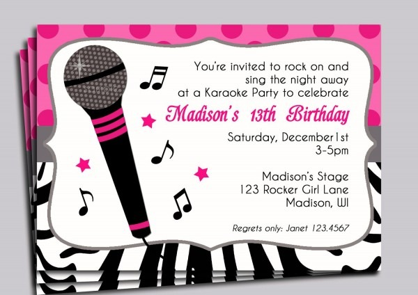Hot Pink Zebra Invitation Printable Or Printed With Free Shipping