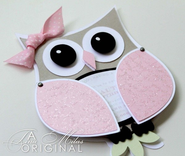 Diy Owl Invitations For Your Baby Shower  Love The Ribbon & The
