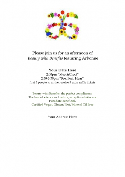 Arbonne Party Invitation Templates  To Order Your Arbonne Products