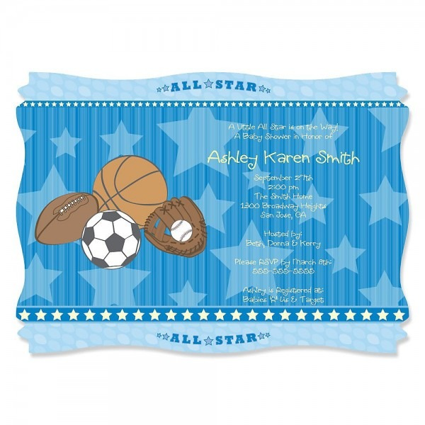 All Star Sports Baby Shower Decorations & Theme
