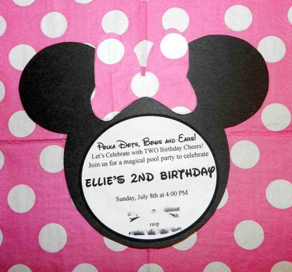 At Second Street  Minnie Invitations  Minnie Mouse Birthday Party