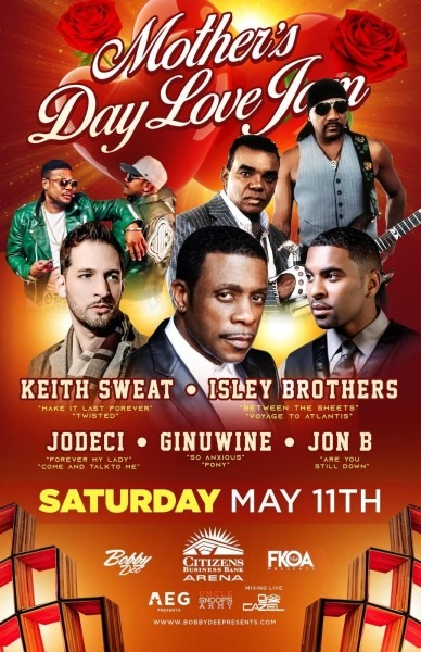 Keith Sweat, Isley Brothers, Jodeci, Ginuwine, & Jon B! At